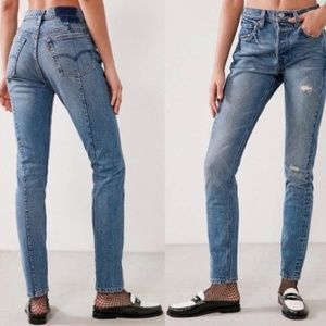 Anthro X Levi's Altered High Waisted Skinny Jeans